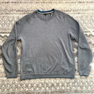 Ted Baker London Gray Ribbed Crewneck Sweater XL
